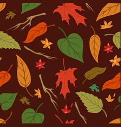 natural colorful vintage seamless pattern vector image