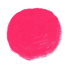 Pink acrylic paint circle vector image