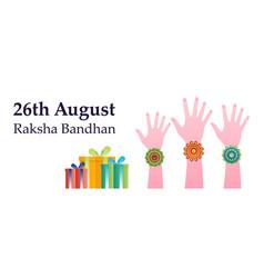Raksha bandhan concept colorful banner template vector