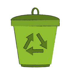 recycle can isolated vector image