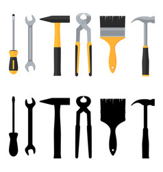 Repair and construction tools icons set vector