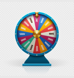 roulette 3d fortune wheel isolated vector image