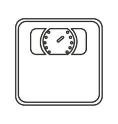 Scale digital measure icon vector