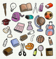school element doodle vector image