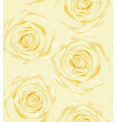 Seamless background with yellow roses sprays drops vector