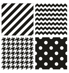seamless black and white pattern or background set vector image