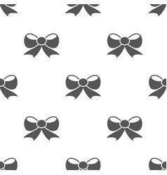seamless bow pattern gift symbol from love icon vector image