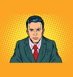 serious businessman man vector image