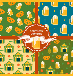 Set of beer theme patterns vector
