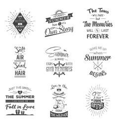 Set vintage summer typographic quotes vector