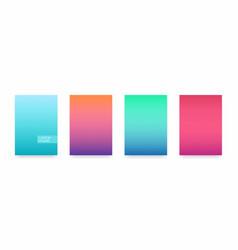 soft color gradient modern light background set vector image