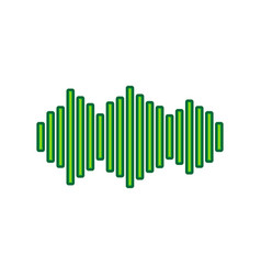 sound waves icon lemon scribble icon on vector image
