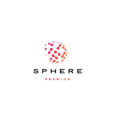 Sphere digital globe dot tech spread 3d logo icon vector