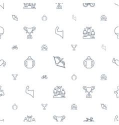 Sport icons pattern seamless white background vector