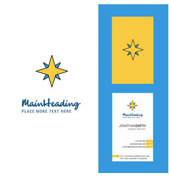 star creative logo and business card vertical vector image