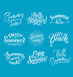 Summer lettering for summertime season design vector