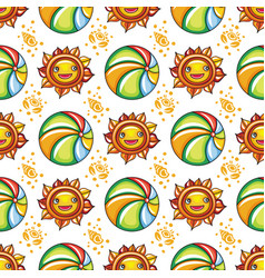Summer pattern series vector