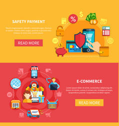 two ecommerce banner set vector image