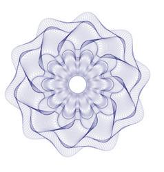 watermark guilloche rosetta design for backgr vector image