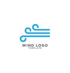 wind logo design template vector image