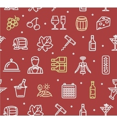 wine making drink background pattern vector image