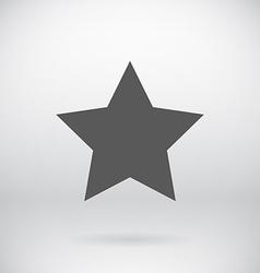 Flat Black Star Symbol Background vector image