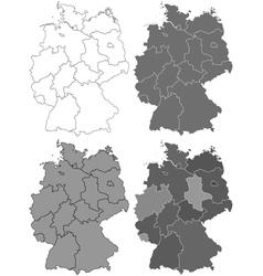 Germany map set vector image vector image