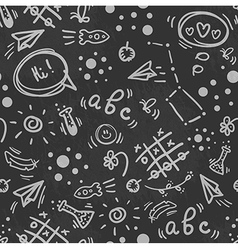 Seamless doodle hand drawn pattern BACK TO SCHOOL vector image vector image