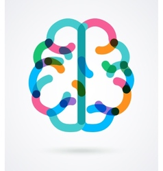 Brain - colorful vector image vector image