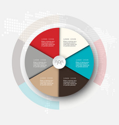 business template infographicsthe circle is vector image