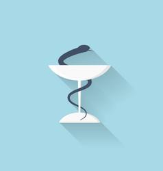 Flat web internet icon Pharmacy symbol vector image