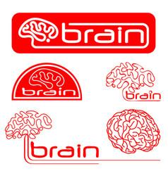 logotypes of brain vector image vector image