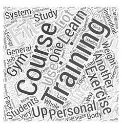 personal training courses Word Cloud Concept vector image vector image