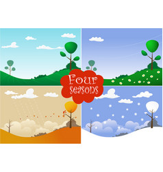 picture with four seasons vector image