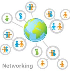 international network vector image vector image