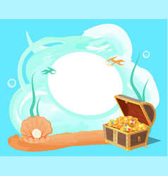 sea and treasures poster vector image vector image