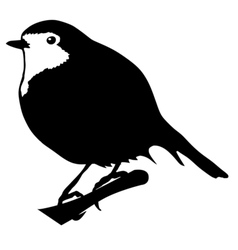 silhouette of robin vector image vector image