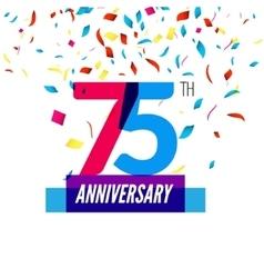Anniversary design 75th icon anniversary vector image
