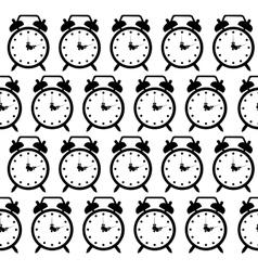 doodle alarm clock seamless pattern background vector image