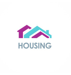 house roof colored logo vector image vector image