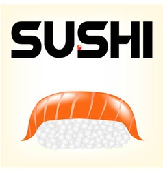 salmon sushi vector image vector image