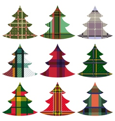 Set of Christmas Trees using the Celtic ornament vector image vector image