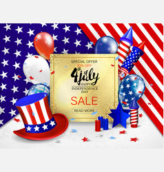 4 th july sale posterusa independence day vector image