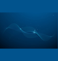 abstract dark blue wave background vector image
