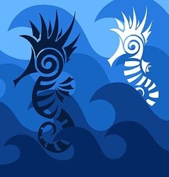 Abstract SeaHorses vector