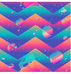 abstract zigzag pattern with grunge effect vector image
