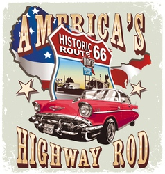 Americas Classic car vector image vector image