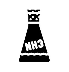 Ammonia chemical flask glyph icon vector