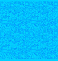 artificial intelligence line seamless pattern vector image