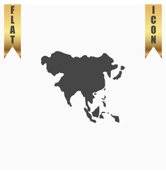 Asia map vector image